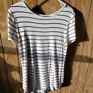 Maurices 24/7 white striped tunic top